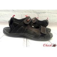 Босоножки мужские спортивные ECCO натуральные кожаные черные E0047
