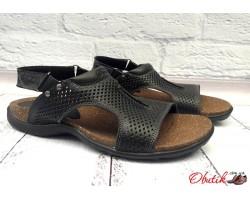 Босоножки сандалии мужские натуральная кожа черные UK0250