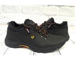 Ботинки мужские Ecco зимние кожа натуральная черные E0051