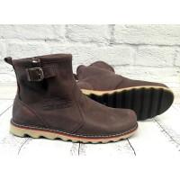 Ботинки мужские Levis зимние кожаные черные/коричневые LE0012