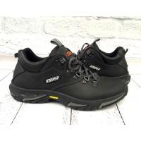 Ботинки мужские демисезонные кожаные черные Uk0536