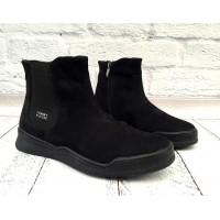 Ботинки мужские Tommy Hilfiger зимние замша и кожа черные TH0012