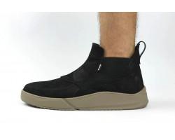 Ботинки мужские Gross весна/осень замшевые на резинке черные Gr0016