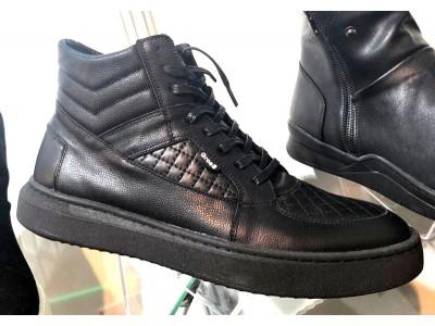 Ботинки мужские Gross весна/осень натуральная кожа черные Gr0018