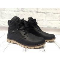 Ботинки мужские Levis зимние натуральный нубук черные Le0011
