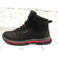 Ботинки мужские Columbia зимние натуральная кожа черные С0002