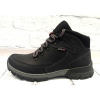 Ботинки мужские Ecco зимние натуральная кожа черные E0008