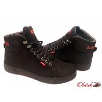 Ботинки мужские Levis зимние кожаные черные Le0005