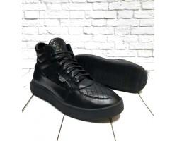 Ботинки мужские  GROSS зимние кожаные черные Gr0022
