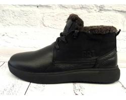 Ботинки мужские зимние кожаные черные Uk0541