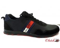 Кроссовки мужские Tommy Hilfiger замшевые черные TH0010