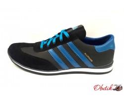 Кроссовки мужские Adidas кожаные черные AD0045