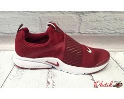 Кроссовки мужские Nike верх сетка марсала черные NI0009