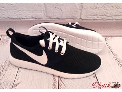 Кроссовки мужские Nike верх сетка черные NI0104