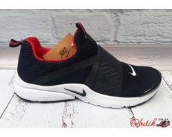 Кроссовки мужские Nike черные на липучке подошва белая Ni0038