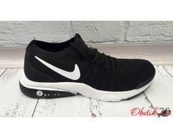 Кроссовки мужские Nike Air сетка черные красные Ni0050
