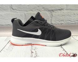Кроссовки мужские Nike сетка серые подошва белая NI0061