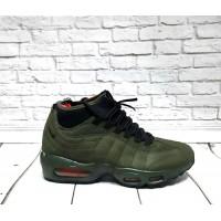 Кроссовки мужские Nike Tn Air зеленые/хаки и черные Ni0161