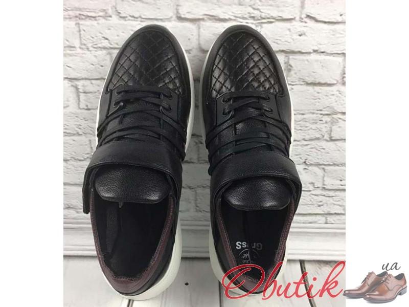 8cc10ea5 Obutik - Модные мужские кроссовки 2019 GROSS кожаные черные GR0039 ...
