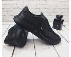 Кожаные кроссовки мужские GROSS черные GR0065-1