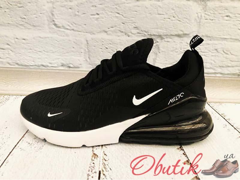 cd5701bd Obutik - Кроссовки дышащие мужские Nike сетка черные Ni0165 ...