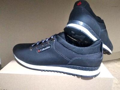 Мужские кроссовки Columbia больших размеров кожа синие C0031