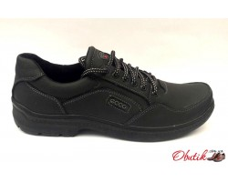Мужские туфли ECCO больших размеров натуральная кожа демисезонные чёрные E0041
