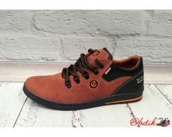 Мужские туфли Ecco Biom натуральные нубук кожа коричневые E0029