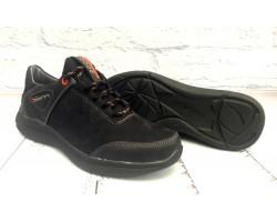 Мужские туфли Ecco Biom кожа+замша черные/коричневые E0007