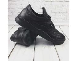 БЕСПЛАТНАЯ ДОСТАВКА! Спортивные туфли мужские GROSS кожа черные GR0046