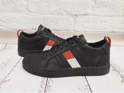 Туфли мужские кожаные Tommy Hilfiger черные Uk0585