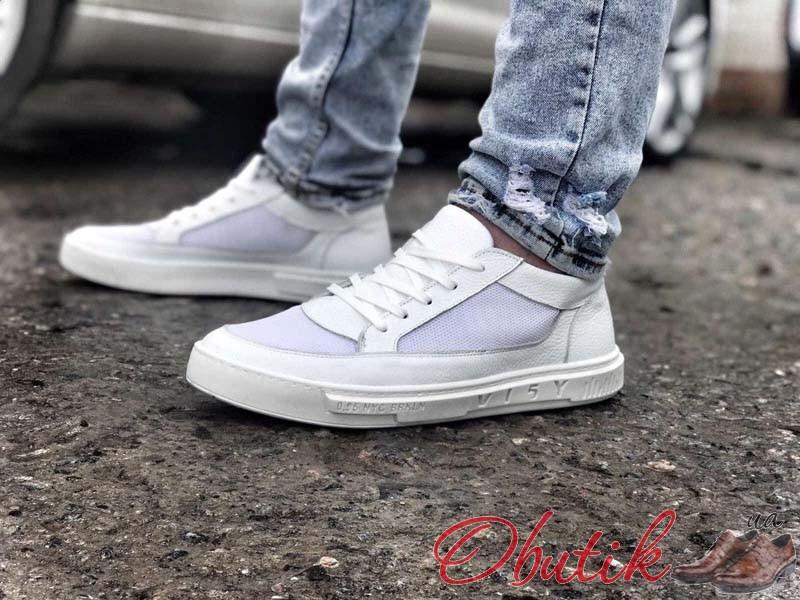 Obutik - Спортивные туфли мужские кожаные белые GR0048 ...