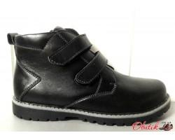 Ботинки подростковые кожаные осень-весна зима черные Uk0479