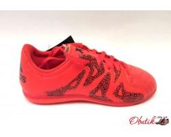 Кроссовки подростковые Adidas футбольные для зала спортматериал красные AD0068