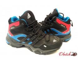 Кроссовки подростковые Adidas Gore Tex осень-весна зима черные AD0072