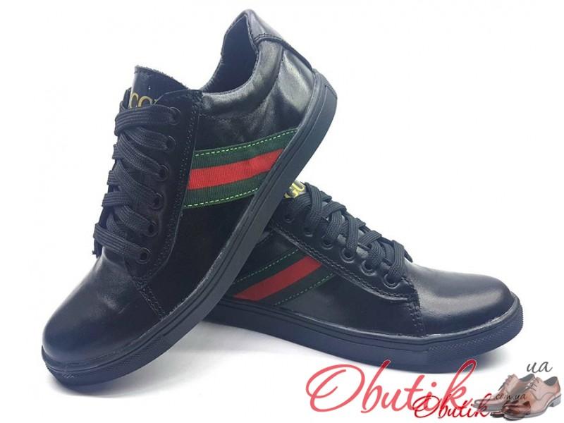 Obutik - Подростковые туфли кеды Gucci кожаные замшевые черные ... 1adc8d4430ce6