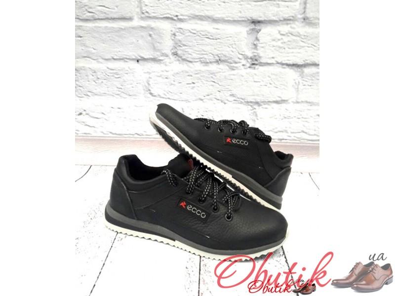 82989a3759179a Obutik - Туфли-кроссовки подростковые Ecco кожаные черные E0017 ...