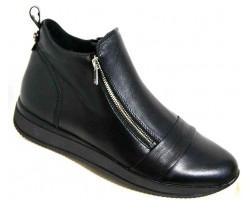 Кожаные ботинки женские на молнии 36-43 размеры MD0036