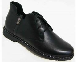 Кожаные ботинки женские на молнии 36-45 размеры MD0037