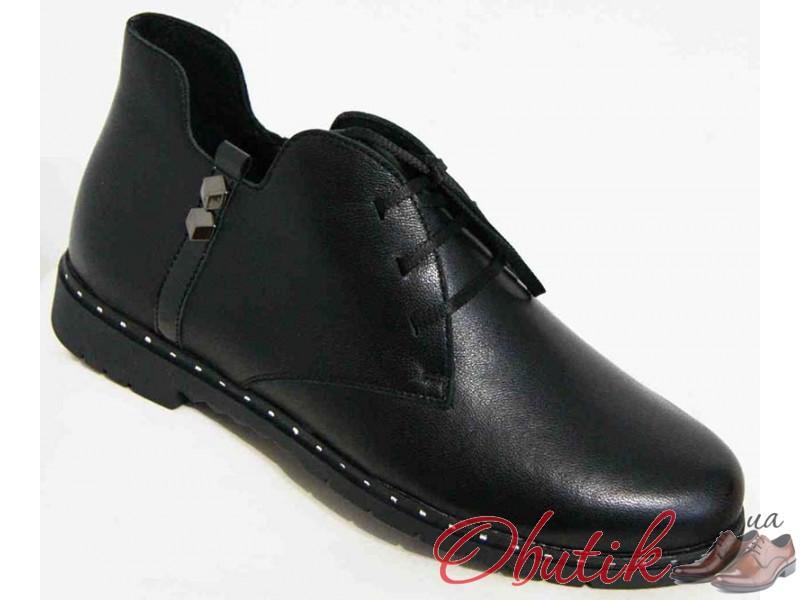 7c82a2b06 Obutik - Кожаные ботинки женские весна 36-45 размеры черные MD0037 ...