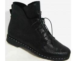 Кожаные ботинки женские на шнурках 36-43 размеры MD0038