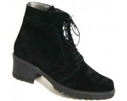 Замшевые ботинки женские зимние черные большие размеры BR0003