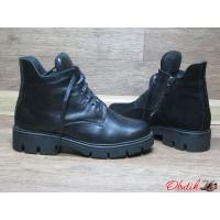 Ботинки женские VOG без каблука весна-осень зима кожа замша Vog0001