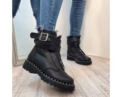 09278492a Женские ботинки AVK осень-весна, зима кожаные черные AV0083