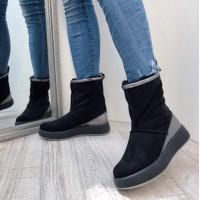 Ботинки женские  AVK зимние на платформе замша цвета разные AV0075