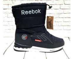 Дутики Reebok женские/подростковые черные синие Re0015