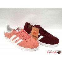 Кроссовки женские Adidas Gazelle замшевые бордо розовый AD0073