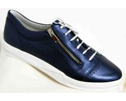 Мокасины женские кожаные 36-44 размеры синие MD0011