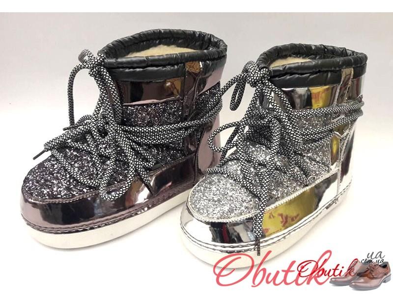 c5e193c5 Женские дутики-сапоги Луноходы Мунбутс Moon Boot низкие серебро бронза  золото MB0003