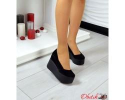 Женские туфли на платформе кожаные  замшевые цвета разные Ko0018